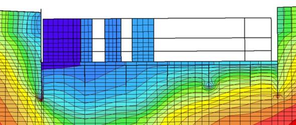 fouille étayée en milieu urbain: zoom sur les déplacements verticaux dus au futur bâtiment